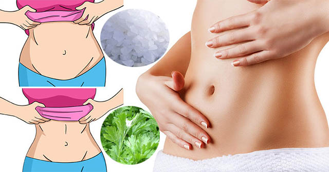 Mẹo giảm mỡ bụng bằng muối nóng và ngải cứu