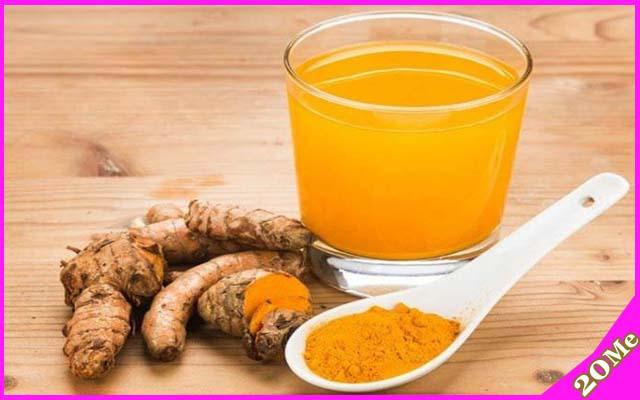 Cách uống tinh bột nghệ trị mụn dưỡng da từ bên trong