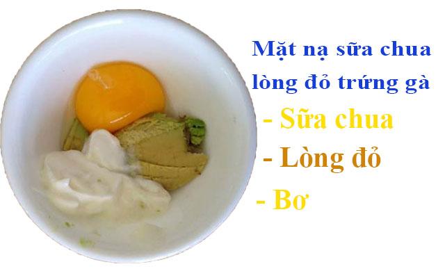Cách đắp mặt nạ sữa chua lòng đỏ trứng gà và bơ