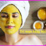 Mặt nạ siêu dưỡng da trị mụn bằng tinh bột nghệ ai dùng cũng mê