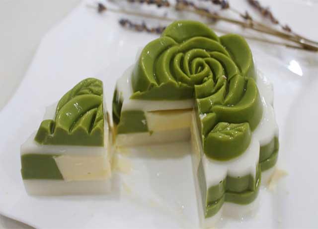 cách làm bánh trung thu rau câu matcha